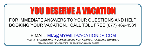 YOU DESERVE A VACATION For immediate answers to your questions and help booking your vacation…. CALL Toll Free (877) 469-4531 or direct to the villas (829) 901-0207 E MAIL: mwvinfo@yahoo.com